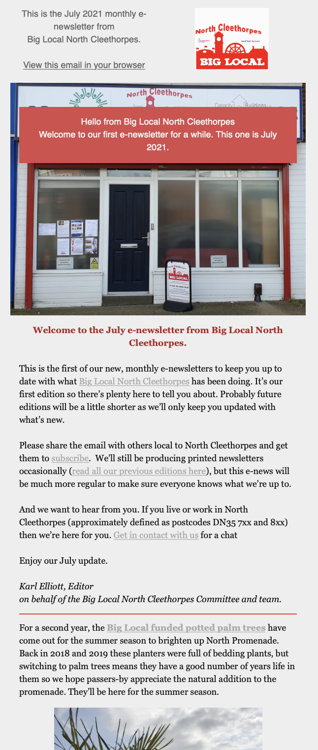 First new, monthly e-newsletter from Big Local is out